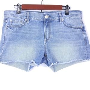 Loft Distressed Denim Jean Shorts 8 Cutoff Frayed